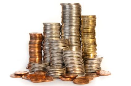 Mynt i olika valörer